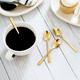 Set of 4 Golden Spoons by Sagaform