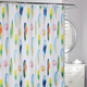 Fresh Feathers Shower Curtain