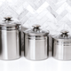 Vitantonio 18/10 Stainless Steel 3-Piece Canister Set