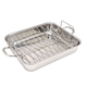 Vitantonio 18/10 Stainless Steel Roasting Pan with Rack & 2 Forks