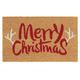 Merry Christmas Antlers Doormat