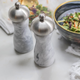 Artic Salt Grinder Marble with Stainless Steel Top - 15 cm