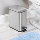 Stainless Steel Rectangular Step-On Can