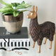 Gold-Tipped Standing Llama by Torre & Tagus