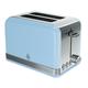 Swan Retro Blue 2-Slice Toaster