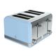 Swan Retro Blue 4-Slice Toaster