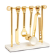 Brass Barbell Barware Set