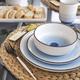 Metropole Blue 16-Piece Dinnerware Set by Brilliant
