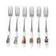 Wrendale Set of 6 Cake Forks by Royal Worcester