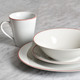 Bristol Edge 16-Piece Dinnerware Set By LC Studio