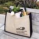 Market Jute Tote Bag