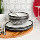 Caviar Granite Dinnerware Collection by Maxwell & Williams