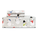 Snow Ball Snow People Flannel Sheet Set and Duvet Cover Set