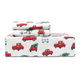 Little Red Truck Flannel Sheet Set and Duvet Cover Set