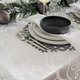 Modern Scroll Table Linens