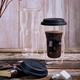Large Coffee On The Go Double Wall Travel Mug by Luigi Bormioli