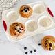 Trudeau Confetti Silicone Jumbo 6 Muffin Pan