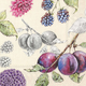 Delicious Plums Table Napkins