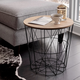 Waverly Black Accent Table with Natural Tray