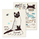 Set of 2 Cat-themed Swedish Dishcloths