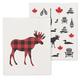 Set of 2 Moose-themed Swedish Dishcloths