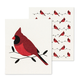 Set of 2 Cardinal-themed Swedish Dishcloths