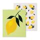 Set of 2 Lemon-themed Swedish Dishcloths