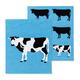 Set of 2 Cow-themed Swedish Dishcloths