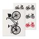 Set of 2 Bicycle-themed Swedish Dishcloths