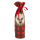 Red Plaid Bottle Bag with Deer Motif