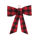 Red and Black Plaid Bow Ornament