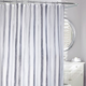 Watercolours Stripe Fabric Shower Curtain