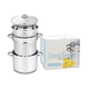 4-Piece Classic Stainless Steel Pasta Pot and Strainer Set