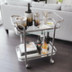 Tess 2-tier Chrome Trolley