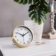 Satin Gold Radius Disc Alarm Clock by Torre & Tagus