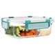 Divided Large Glass Food Container