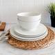 Laurel Rim Dinnerware Collection by LC Studio
