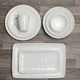 Linen White Dinnerware Collection by LC Studio