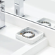 iDesign Dakota Resin Marble Tray Organizer by InterDesign