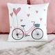 Whimsical Bicycle Cushion