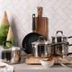 J. A. Henckels International Kitchen Elements 10-Piece Stainless Steel Cookware Set