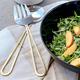 Golden Handle Set of 2 Salad Servers