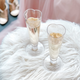 Set of 2 Bubbly Heart Stemless Champagne Glasses by Brillant