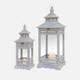 Calia Blue Wood Lantern
