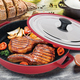 MasterPan Heat-in Steam-out Oven Grill Pan with Lid
