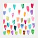 Rainbow Hearts Table Napkins