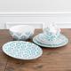 Bargello Blue Dinnerware Collection
