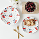 Set of 4 Kate Spade Vintage Cherry Dot Accent Plates