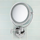 Revolving Lit Wall Mounted Mirror