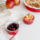 Red Fluted Ramekin